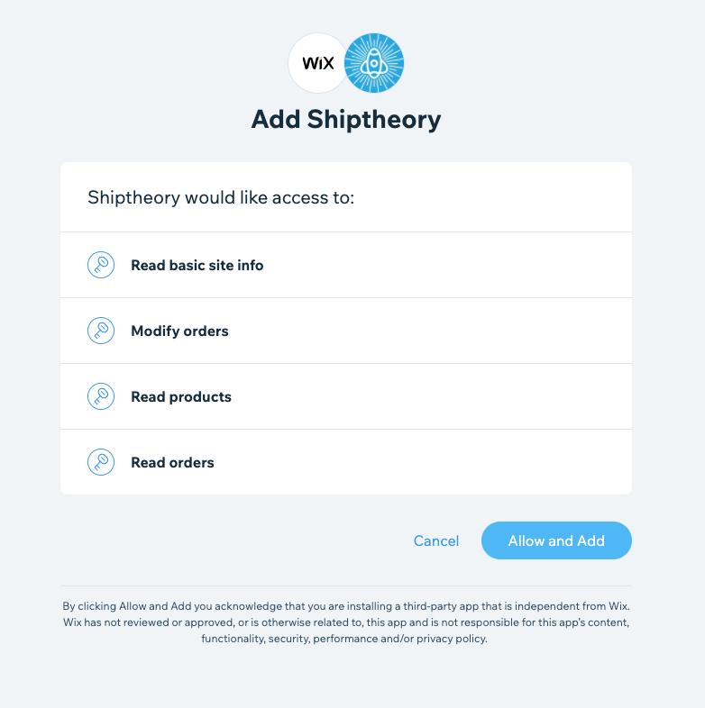 Wix Shiptheory